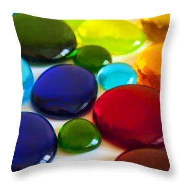 Circles Of Color Throw Pillow