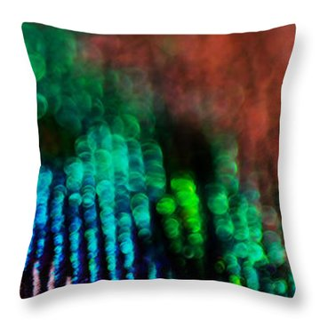 Circles Of Confusion Throw Pillow by Lisa Knechtel