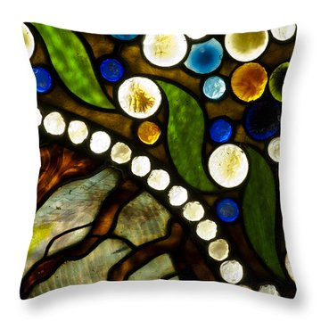 Circles Of Glass Throw Pillow