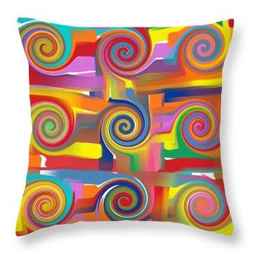 Circles Of Life Throw Pillow