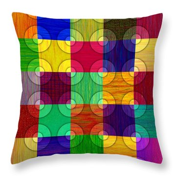 Circles Over Squares Throw Pillow by David K Small