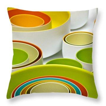 Throw Pillow featuring the photograph Circles Squared by Ira Shander