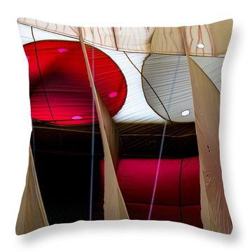 Circles Within Circles - Inside A Hot Air Balloon Throw Pillow
