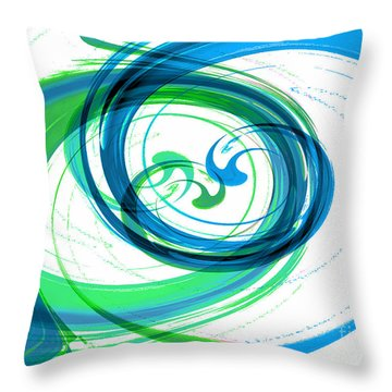 Circling Grace 1 Throw Pillow