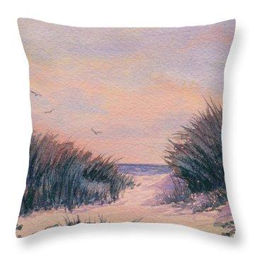 Circling At Sunset Throw Pillow