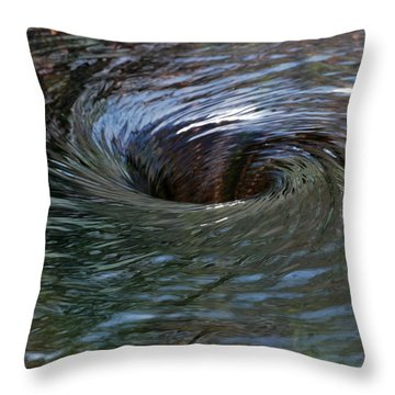 Circling Throw Pillow by Wendy Wilton
