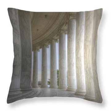 Circular Colonnade Of The Thomas Jefferson Memorial Throw Pillow
