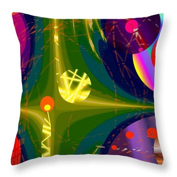 Throw Pillow featuring the digital art Circular Power by Mary Armstrong