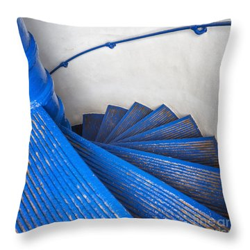 Throw Pillow featuring the photograph Circular Staircase At Arecibo Lighthouse In Puerto Rico by Bryan Mullennix