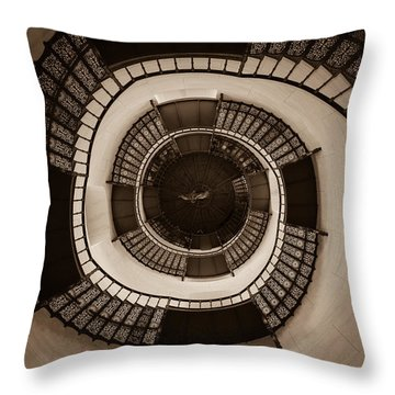 Circular Staircase In The Granitz Hunting Lodge Throw Pillow by Andreas Levi