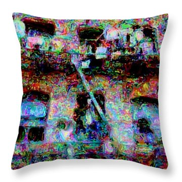 Throw Pillow featuring the photograph Circumstances by Nick David