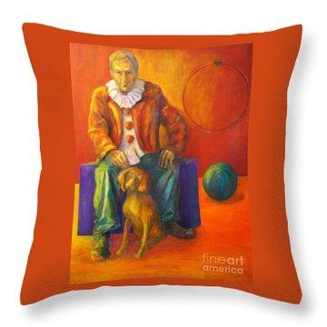 Circus Throw Pillow by Dagmar Helbig