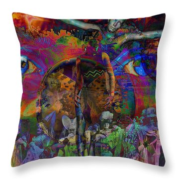 Solar Mind Throw Pillow by Joseph Mosley