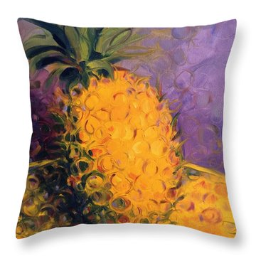Cirdling Yellow Throw Pillow