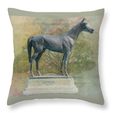 Citation Thoroughbred Throw Pillow