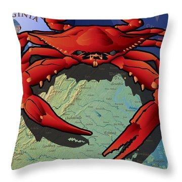 Citizen Crab Of Virginia Throw Pillow