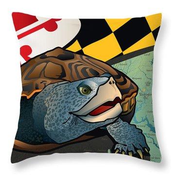 Citizen Terrapin Maryland's Turtle Throw Pillow