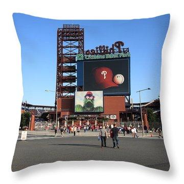 Citizens Bank Park - Philadelphia Phillies Throw Pillow by Frank Romeo