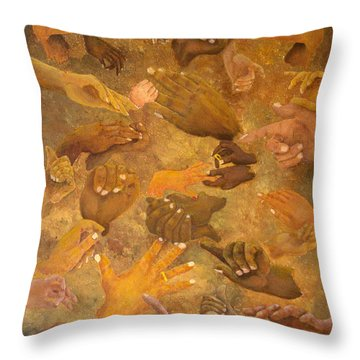 Citizens Of Earth Throw Pillow by Pamela Allegretto