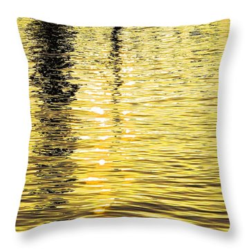 Citrine Ripples Throw Pillow by Chris Anderson