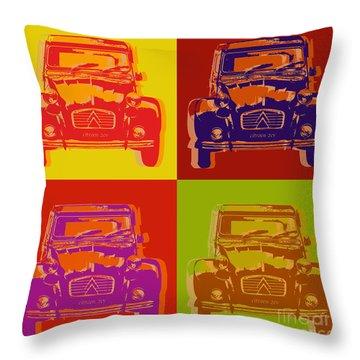 Citroen 2cv Throw Pillow