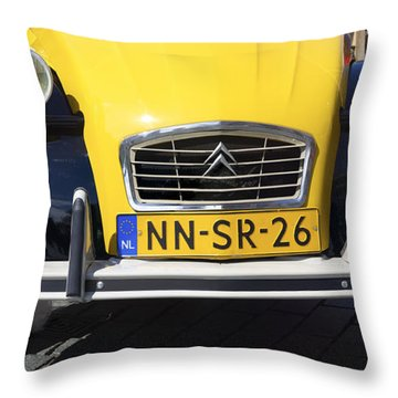 Citroen Oldtimer Throw Pillow by Hans Engbers