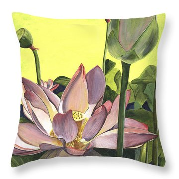 Plants Throw Pillows
