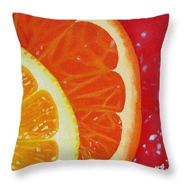 Citrus Hue Throw Pillow by Kayleigh Semeniuk