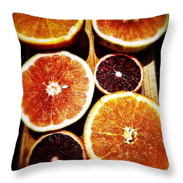 Citrus Hues Throw Pillow by Olivier Calas