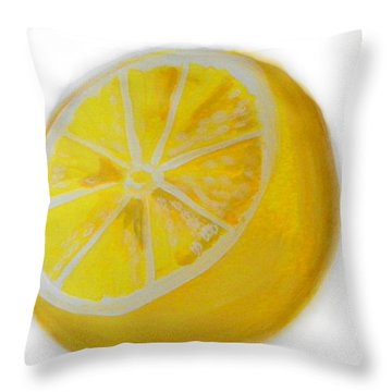 Throw Pillow featuring the painting Citrus by Marisela Mungia