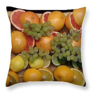 Throw Pillow featuring the photograph Citrus by Michael Canning