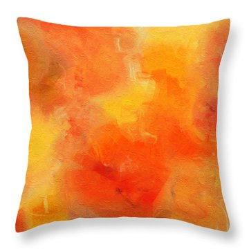 Citrus Passion - Abstract - Digital Painting Throw Pillow by Andee Design