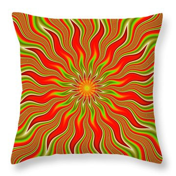 Citrus Sunshine Throw Pillow by Faye Symons