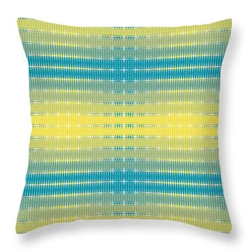 Citrus Warp 3 Throw Pillow by Kevin McLaughlin