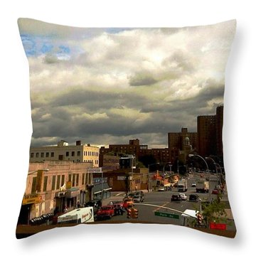 Throw Pillow featuring the photograph City And Sky by Miriam Danar