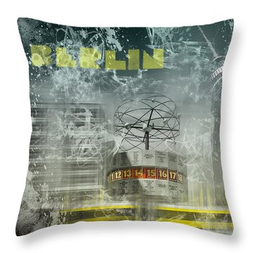 City-art Berlin Alexanderplatz  Throw Pillow by Melanie Viola