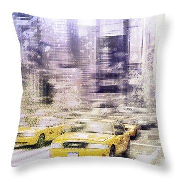 City-art Times Square I Throw Pillow by Melanie Viola