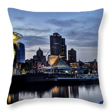 City At A Glance Throw Pillow