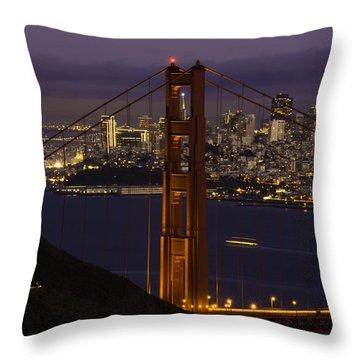 City At Night Throw Pillow
