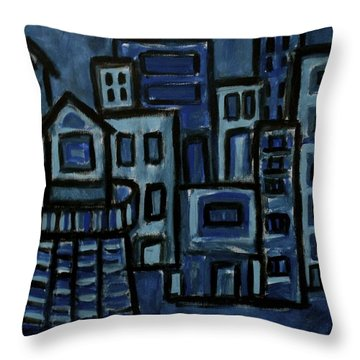 City At Night Throw Pillow