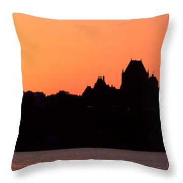 City At Sunset, Chateau Frontenac Throw Pillow