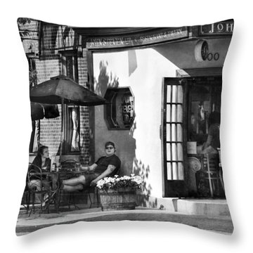 City - Baltimore Md - Having A Cold One Throw Pillow by Mike Savad