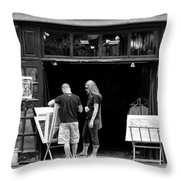 City - Baltimore Md - Tag Galleries  Throw Pillow by Mike Savad