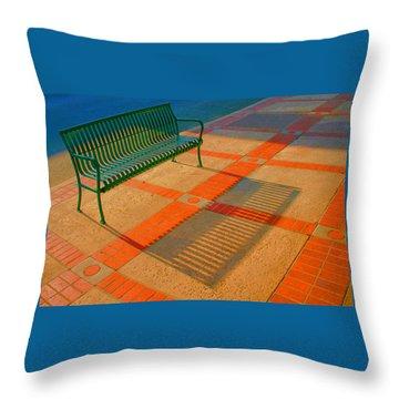 City Bench Still Life Throw Pillow by Ben and Raisa Gertsberg
