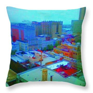 City Blues II Throw Pillow