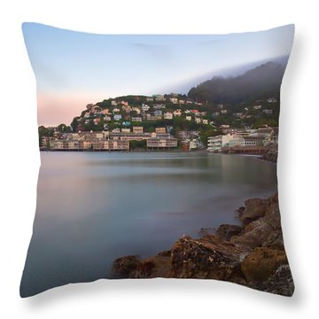 City By The Sea Throw Pillow by Jonathan Nguyen