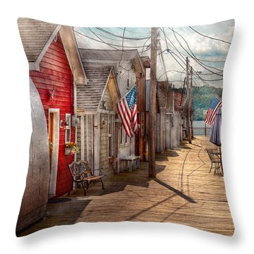 City - Canandaigua Ny - Shanty Town  Throw Pillow by Mike Savad