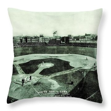 City Championship 1909 Throw Pillow by Benjamin Yeager