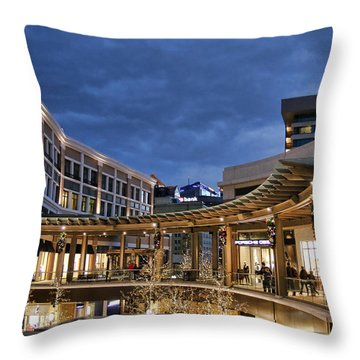 Throw Pillow featuring the photograph City Creek by Ely Arsha