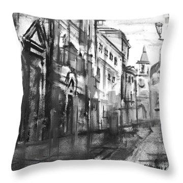 City Everyday Life  Throw Pillow by Khromykh Natalia